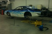 Race car in shop
